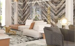 Elegant Contemporary Home Décor for Houses In White & Gold Colors On Modern House Interior Design