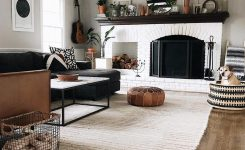 Elegant White Painted Fireplace White Painted Brick Fireplace On Boho Decor Ideas for Living Room with Fireplace and Tv