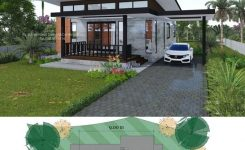 Engaging Affordable Two Bedroom Modern Bungalow for Those who are On On Simple Modern House Design
