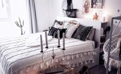 Engaging Image May Contain 1 Person Bedroom Table and Indoor On Boho Home Decor Shops