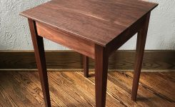 Engaging Walnut Side Table On Walnut End Tables