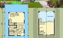 Exquisite Plan 9804sw Vacation Cottage or Guest Quarters On Cabin House Plans with Loft