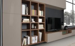 Exquisite Storage Wall attached to Wooden Wall with Tv Stand Living01 On Tv Wall Unit