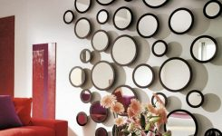 Extraordinary Chic Small Living Room with Round Wall Mirrors as Unique On Decorative Wall Mirrors