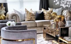 Extraordinary Gold Grand Elephant Candle On Living Room Modern Design Ideas