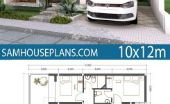 Extraordinary Home Plan 10x12m 3 Bedrooms Sam House Plans On Simple Modern House Design