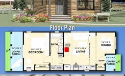 Extraordinary Plan Jj Tiny Cottage House Plan with Vaulted Interior On Small Cabin Plans with Loft and Porch