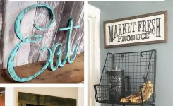 Fanciable 45 Pretty Kitchen Wall Decor Ideas to Stir Up Your Blank On Wall Decor for Large Walls