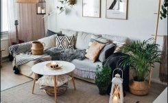 Gorgeous 28 Marvelous Scandinavian Living Rooms with Boho Style Ideas On Home Decor Ideas Living Room Modern Boho area Rug with Plum Accents