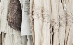 Gorgeous A Rail Full Of Neutrals I Like the Hangers too On Boho Clothing Stores