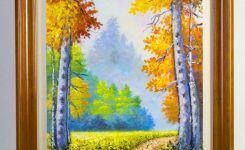 Irresistible forest Walk Handscupltured 3d Oil Paintings Size Inches On Cheap Art Prints