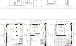 Lovely Tiny House 5 6 8m – Drawing From 2d and 3d – Samphoas Plan On 3d Room Drawing