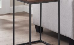 Lovely Walker Edison Modern Square Side Table & Reviews Furniture On Walnut End Tables