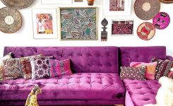 """Magnificent Bohemian Decor On Instagram """"that Purple Couch 💜💕 On Boho Chic Couch"""