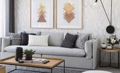 Magnificent Geometric Printable Wall Art Digital Print Gold and Brown On Wall Decor Ideas for Living Room Boho Rug Sets