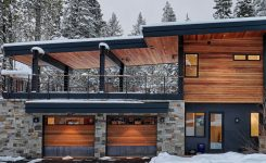 Magnificent Industrial Modern Home with Black Windows and A Wood and On Small Modern Mountain Homes