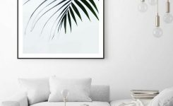 Magnificent Palm Tree Wall Art Tropical Leaf Print Botanical Prints On Wall Art Designs for Living Room
