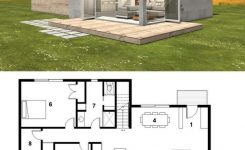 Magnificent Small Modern Cabin House Plan Freegreen Energy Efficient On Modern Cabin Plans