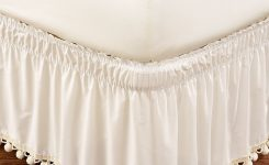 Magnificent Wrap Around Dust Ruffle On Boho Bed Skirt