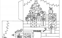 Nice-looking Christmas Room Paper Craft Pop Up Printable with Fireplace On 3d Room Drawing