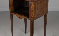 Nice-looking French Marquetry Side Table On Walnut End Tables