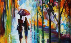 """Nice-looking Invitation 3"""" by Leonid Afremov Painting Print On Wrapped On Cheap Art Prints"""