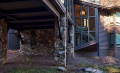 North carolina mountain home plans best of rustic home in north carolina designed above a flowing creek