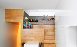 -of-bunk Beds with Desk and Stairs
