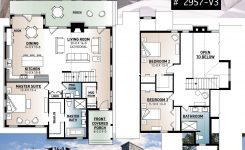 Prodigious Mountain Style Cottage Plan with 3 Bedrooms A Fireplace and On Mountain Cabin House Plans