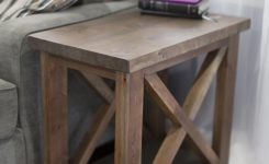 Prodigious Rustic X Style Side Table with A Thick top and A Bottom On Contemporary Coffee Tables Ultra Modern
