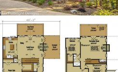 Prodigious Small Cabin Home Plan with Open Living Floor Plan On Small Mountain House Plans