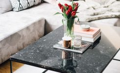 Wonderful Black Marble Coffee Table Interior Inspiration On Glass Contemporary Coffee Table