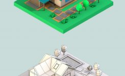 Wonderful Download Low Poly Houses 3d Models Low Poly Lab On 3d Room Drawing