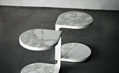 Wonderful Tacchini Coot Marble Coffee Table Metal On Contemporary Coffee Tables Ultra Modern