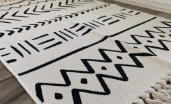 Wondrous Black and White Boho Accent Rug In 2021 On Wall Decor Ideas for Living Room Boho Rug Sets
