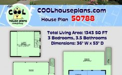 Wondrous Coastal Style House Plan with 3 Bed 4 Bath On Mountain Home Plans Sloping Lot